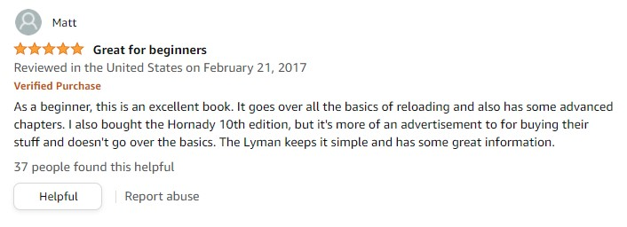 Lyman 50thEdition Reloading Manual review