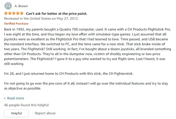 200-571 CH Products Fighterstick USB review