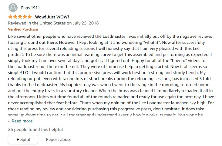 Lee Load Master Review